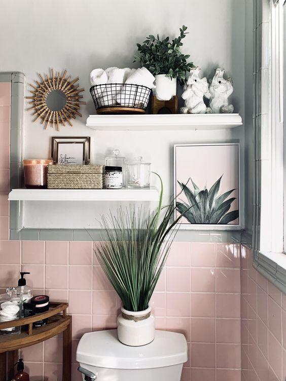Small Pink Bathroom Designs